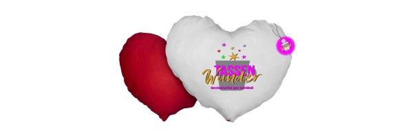 Herzkissen zweifarbig