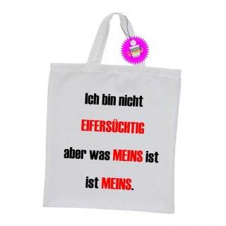 EIFERSÜCHTIG - Einkaufstasche mit Spruch / Sprüche / Witzige / Lustige / Bedruckt
