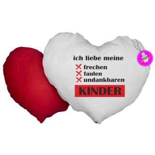 ich liebe meine KINDER - Herzkissen mit Spruch / Lustiges /Sprüche / Kissen/ Fotokissen