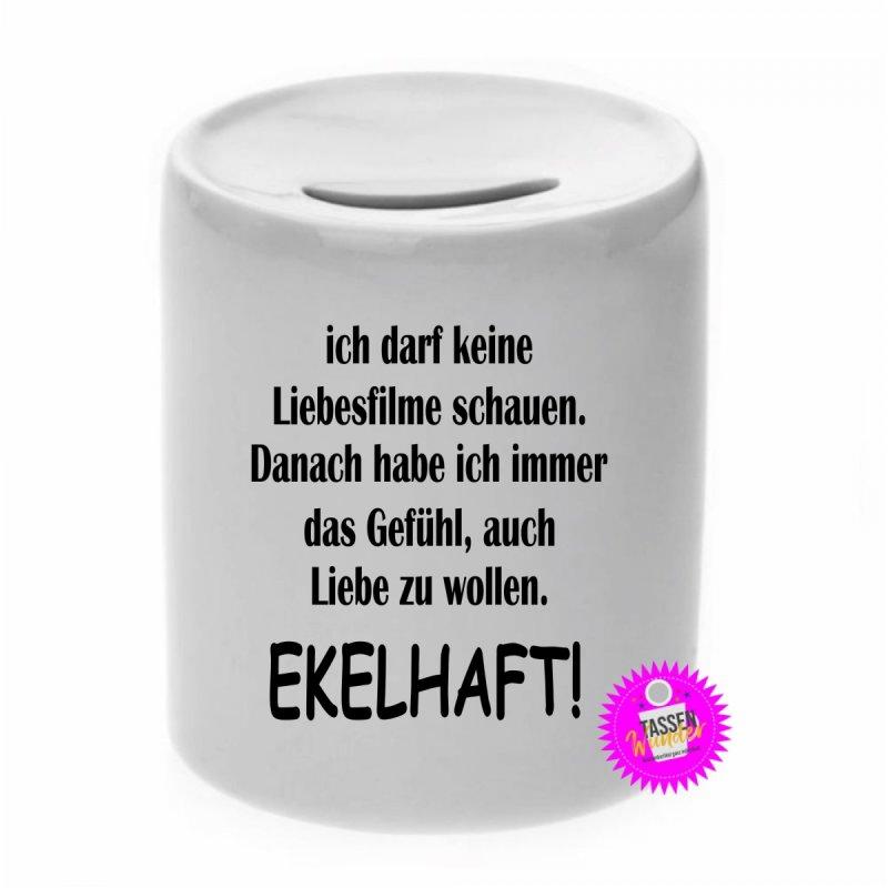 EKELHAFT! - Spardose mit Spruch / Sprüche / Geld