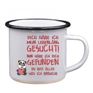 DU BIST ALLES WAS ICH BRAUCHE - Emaille-Tassen Lustige Tasse Geschenk Liebe Büro Kaffeebecher