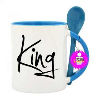 - King - Geschenk Witzig Büro Weinachten Lustige Tasse Kaffeebecher Tee Tassen