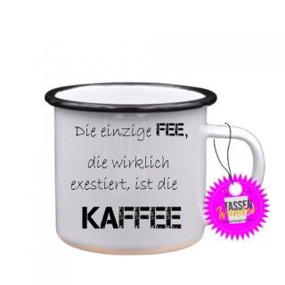 - Die einzige FEE,... - Emaille-Tassen Lustige Tasse Geschenk Liebe Büro Kaffeebecher Weinachten
