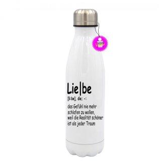 - Liebe das Gefühl nie mehr - Edelstahl Trinkflasche Sprüche Witzig Lustig Bedruckt Wandern Geschenk