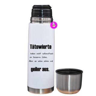 - Tätowiete - Lustige Thermosflasche  Geschenk Liebe Kaffee Tasse Urlaub