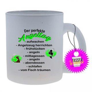 Lustige Tasse Der perfekte Angeltag. Lustig, Büro, Geschenk,  Motivation