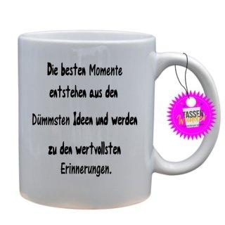 - Die besten Momente - Lustige Sprüche Tassen Kaffeebecher Geschenk Witzige