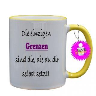 - Die einzigen Grenzen - Lustige Sprüche Tassen Kaffeebecher Geschenk Witzige