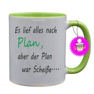 - Es lief alles nach Plan - Lustige Sprüche Tassen Kaffeebecher Geschenk Witzige