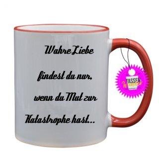 - Katastrophe - Lustige Sprüche Tassen Kaffeebecher Geschenk Witzige