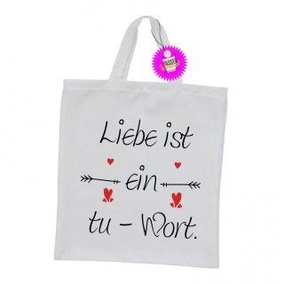 - Liebe ist ein - Einkaufstasche Sprüche Witzige Lustige Bedruckt