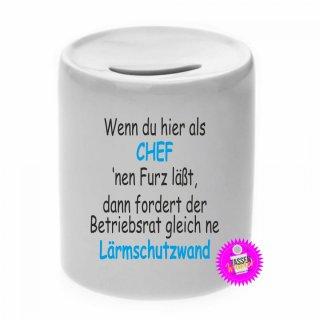 - CHEF - Spardose lustig Geld Geschenk Sparschwein