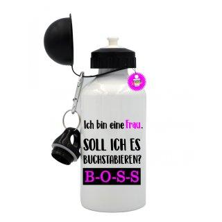 - Ich bin eine Frau - Trinkflasche Tassen Lustige  Geschenk  Wandern Aluminium