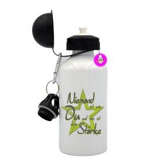 - deine Stärke - Trinkflasche Tassen Lustige  Geschenk  Wandern Aluminium
