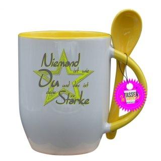 - deine Stärke - Lustige Sprüche Tassen Kaffeebecher Löffel Geschenk Witzige