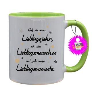 - Auf ein neues Lieblingsjahr - Lustige Sprüche Tassen Kaffeebecher Geschenk Witzige Tasse