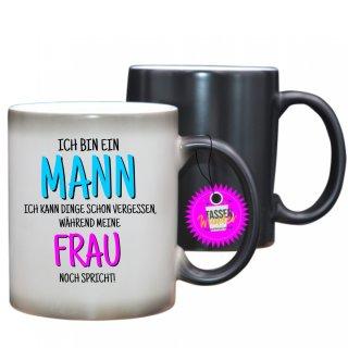 - ICH BIN EIN MANN - Farbwechseltasse  Lustige Tasse Kaffee Tee Büro Geschenk Witzig