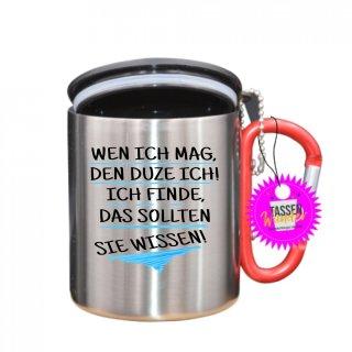- WEN ICH MAG, - Tasse mit Spruch_Edelstahlbecher_Sprüche_Motive_Liebe