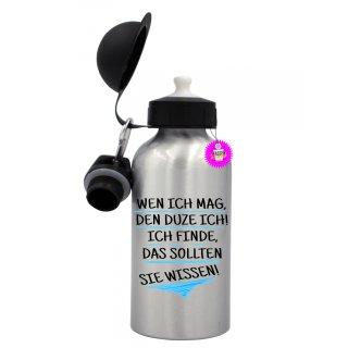 - WEN ICH MAG, - Trinkflasche Tassen Lustige  Geschenk  Wandern Aluminium