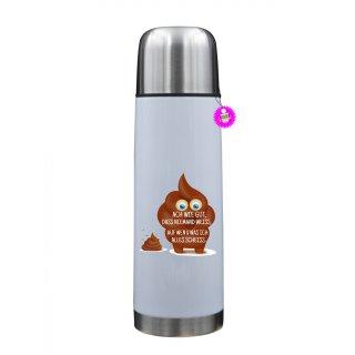 - ACH WIE GUT, DAS NIEMAND WEISS; - Lustige Thermosflasche  Geschenk Liebe Kaffee Tasse Urlaub