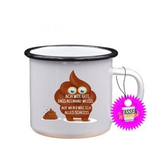 - ACH WIE GUT, DAS NIEMAND WEISS; -Tassen Spruch Lustige Tasse Geschenk Kaffeebecher Liebe Witzig
