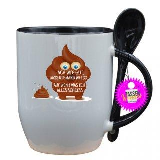 - ACH WIE GUT, DAS NIEMAND WEISS; - Lustige Sprüche Tassen Kaffeebecher Löffel Geschenk Witzige
