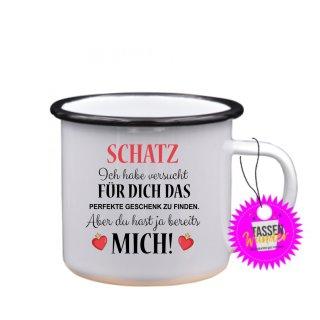- Schatz, Ich habe versucht - Tassen Spruch Lustige Tasse Geschenk Kaffeebecher Liebe Witzig