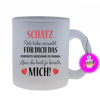 - Schatz, Ich habe versucht - Lustige Sprüche Tassen Glas Kaffeebecher Geschenk Witzige
