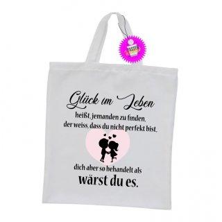 - Glück im Leben - Einkaufstasche Sprüche Witzige Lustige Bedruckt