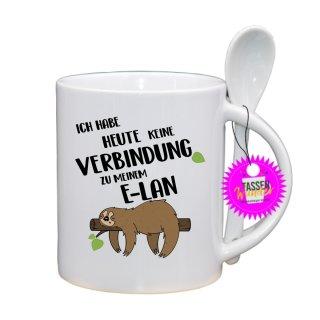 ICH HABE HEUTE KEINE - Lustige Tasse mit Spruch / Sprüche / Löffel / Geschenk