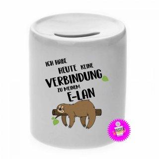 ICH HABE HEUTE KEINE ... - Spardose mit Spruch / Sprüche / Geld / Geschenk / Sparschwein