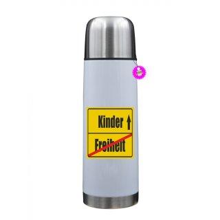 Freiheit / Kinder - Thermosflasche mit Spruch / Lustige /Sprüche / Urlaub / Atbeit