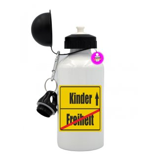 Freiheit / Kinder - Trinkflasche mit Spruch / Lustige / Sprüche / Aluminium