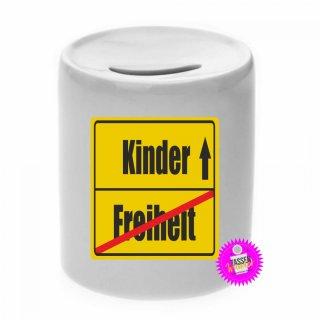 Freiheit / Kinder - Spardose mit Spruch / Sprüche / Geld / Geschenk / Sparschwein