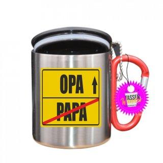 PAPA / OPA  - Tasse mit Spruch_Edelstahlbecher_Sprüche_Motive_Liebe
