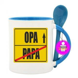 PAPA / OPA  - Lustige Tasse mit Spruch / Sprüche / Löffel / Geschenk