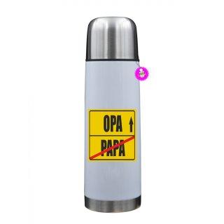 PAPA / OPA  - Thermosflasche mit Spruch / Lustige /Sprüche / Urlaub / Atbeit
