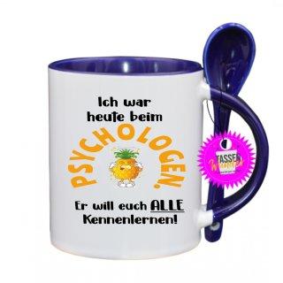 PSYCHOLOGEN ... - Lustige Tasse mit Spruch / Sprüche / Löffel / Geschenk