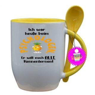 PSYCHOLOGEN ... - Tasse mit Spruch / Lustige / Sprüche / Löffel / Büro