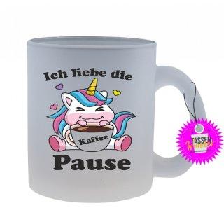 Ich liebe die Kaffee Pause - Tasse mit Spruch / Lustigen / Sprüchen / Glas / Kaffeebecher