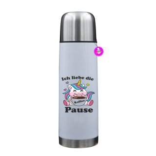 Ich liebe die Kaffee Pause - Thermosflasche mit Spruch / Lustige /Sprüche / Urlaub / Atbeit
