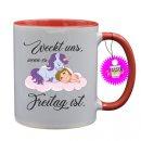 Weckt uns, wenn es Freitag ist - Tassen mit Spruch / Sprüche / Lustige / Motivation / Lustig