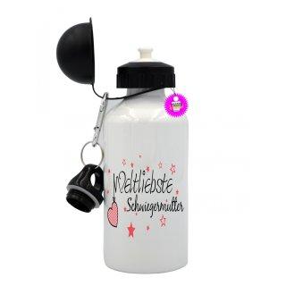Weltliebste Schwiegermutter - Trinkflasche mit Spruch / Lustige / Sprüche / Aluminium