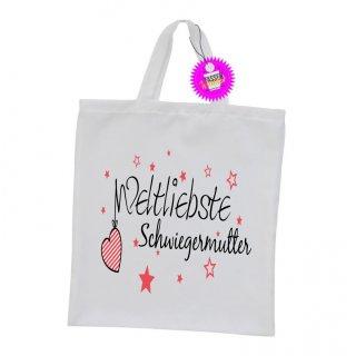 Weltliebste Schwiegermutter - Einkaufstasche mit Spruch / Sprüche / Witzige / Lustige / Bedruckt