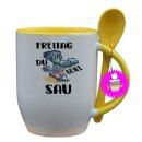 FREITAG DU GEILE SAU - Tasse mit Spruch / Lustige /...