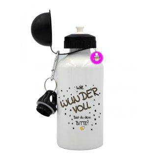 Wie Wundervoll Bist du denn Bitte? - Trinkflasche mit Spruch / Lustige / Sprüche / Aluminium