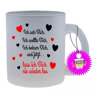 Ich sah Dich- Tasse mit Spruch / Lustigen / Sprüchen / Glas / Kaffeebecher