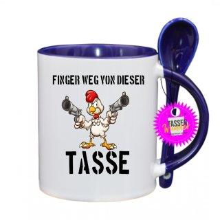 FINGER WEG VON DIESER TASSE - Lustige Tasse mit Spruch / Sprüche / Löffel / Geschenk