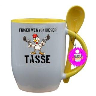 FINGER WEG VON DIESER TASSE - Tasse mit Spruch / Lustige / Sprüche / Löffel / Liebe/  Büro