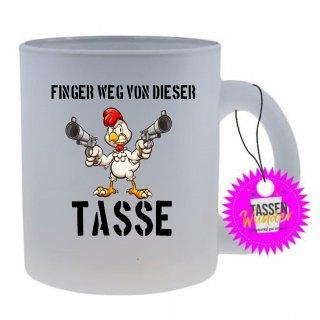 FINGER WEG VON DIESER TASSE - Tasse mit Spruch / Lustigen / Sprüchen / Glas / Kaffeebecher